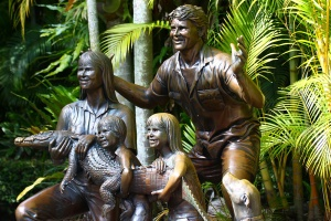 The whole Irwin family (including Sui) was here to greet you as soon as you entered the zoo.