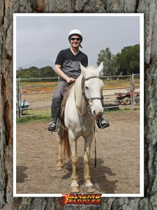 Me and Maxi, the supermodel of their stables. Those long legs were almost my undoing.