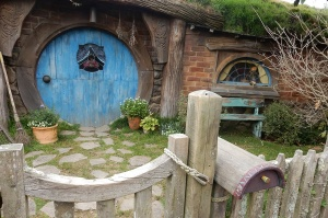 One of the first hobbit holes witnessed as you enter the village.
