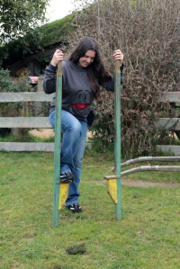 Hobbit stilts are hard to play with!